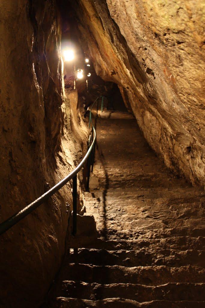 Grotte de Nichet (la remontée des 120 marches)