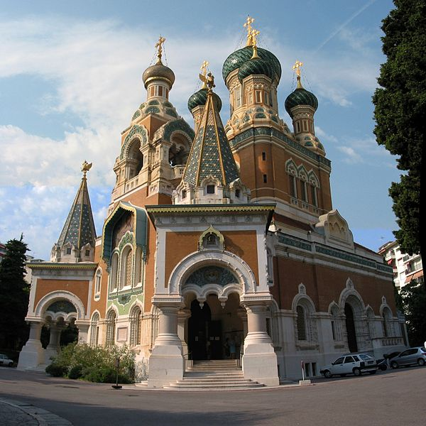 Eglise Orthodoxe de St-Nicolas de Nice By Fryderyk CC BY 3.0 via Wikimedia Commons