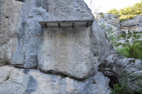 Le défilé de la pierre Écrite