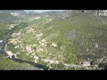 Vidéo de la Jonte et du Tarn vu du rocher de Capluc