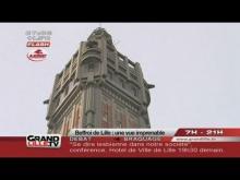 Le beffroi de l'hôtel de ville de Lille en Vidéo