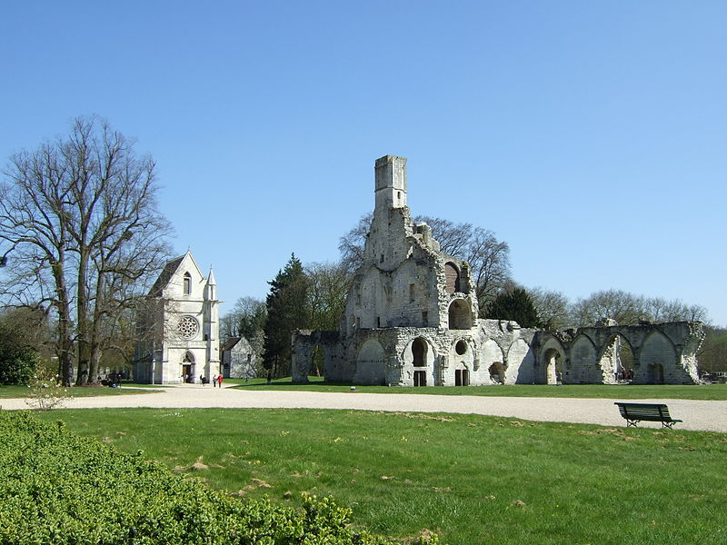Abbaye royale de Chaalis by Turris via wikimédia commons