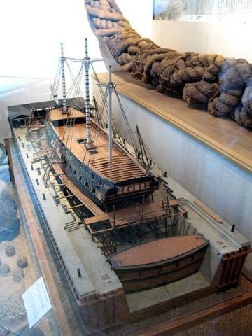 Musée National de la Marine de Toulon Par Model workshop of Toulon arsenal, 1778. (RamaTravail personnel) CC BY-SA 2.0 via Wikimedia Commons
