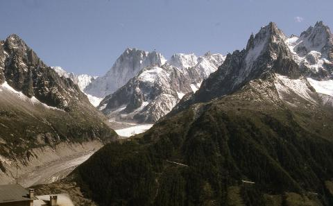 Le Train du Montenvers - Mer de Glace Par AntonyBCC BY-SA 4.0 via Wikimedia Commons