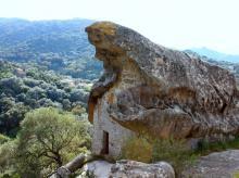 Le rocher de l'Oriu de Canni