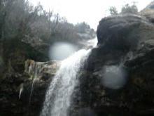 Vidéo de la cascade de la queue de cheval en hiver